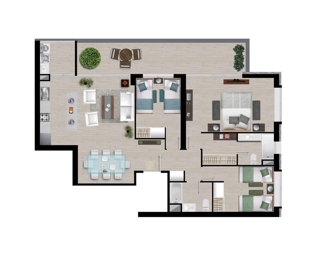 Superficie 115 m2