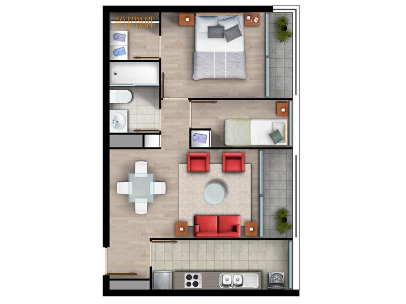 Superficie 49 m2