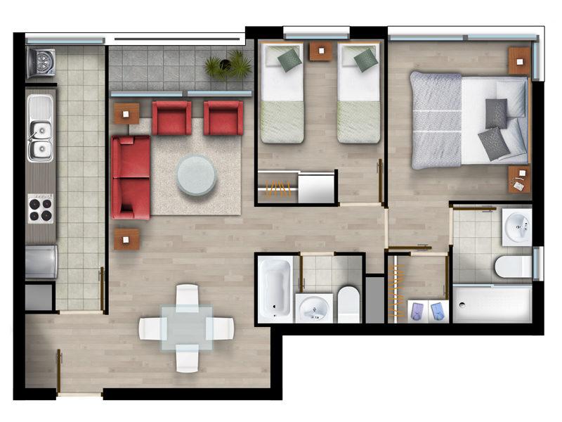 Superficie 59 m2