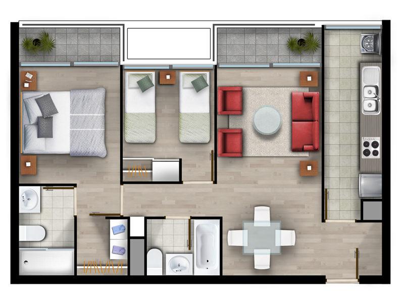 Superficie 62 m2
