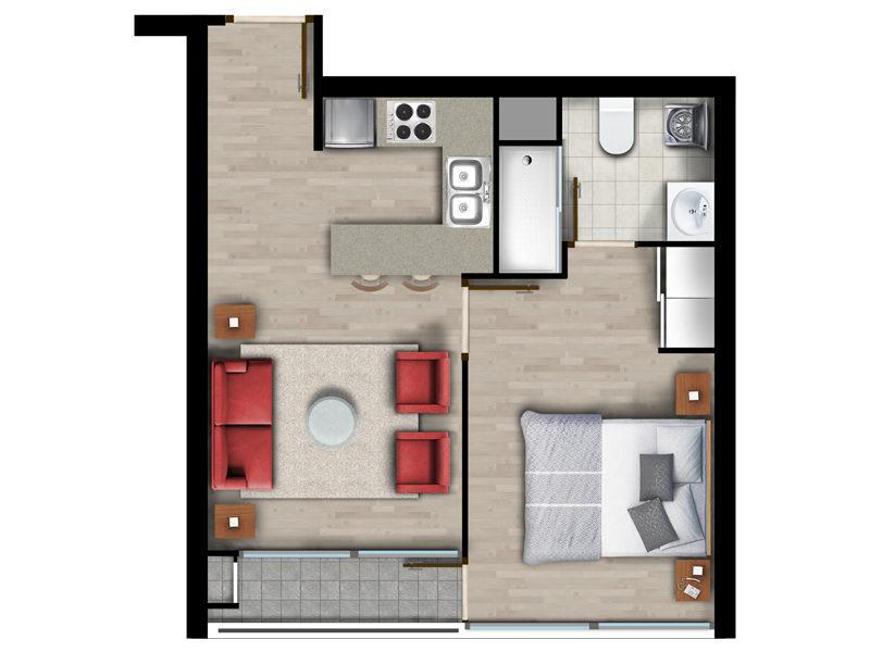 Superficie 35 m2
