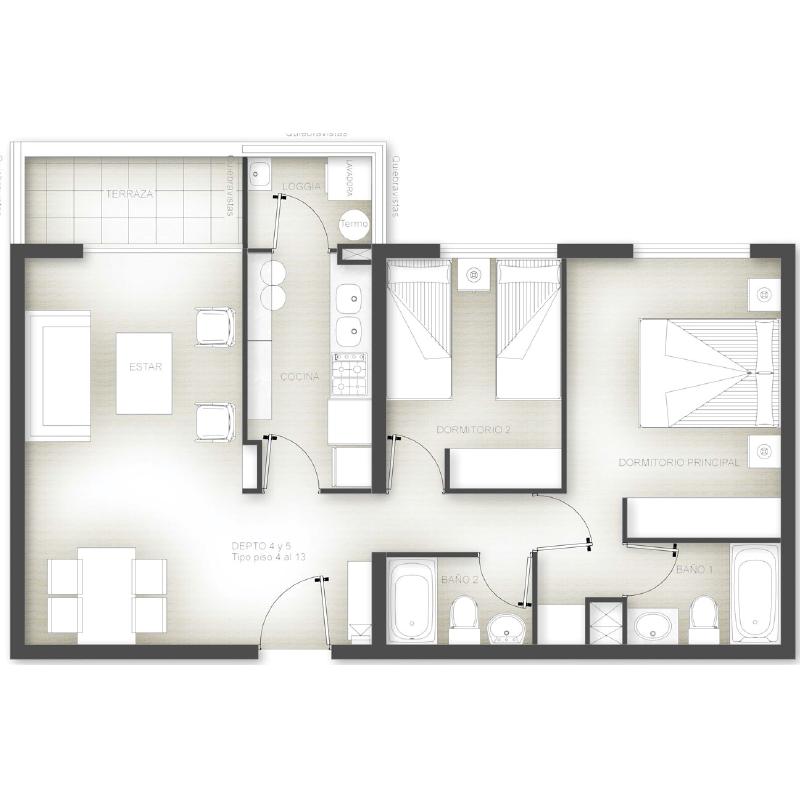 Superficie 65 m2